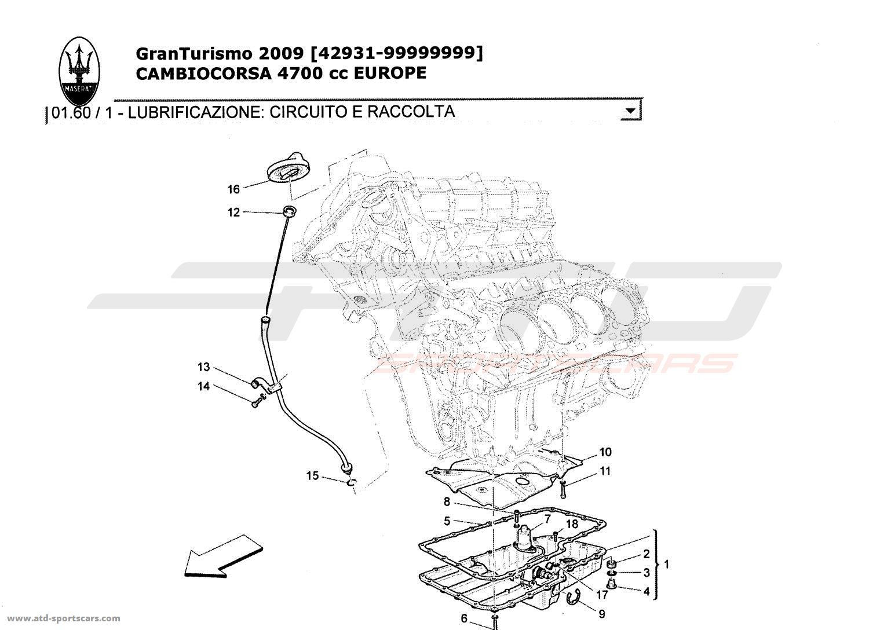 Maserati GranTurismo 4,7L Boite F1 2009 Engine parts at