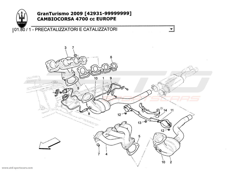 Maserati GranTurismo 4,7L Boite F1 2009 PRE-CATALYTIC