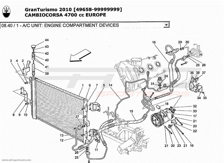 Maserati GranTurismo 4,7L Boite F1 2010 A/C UNIT: ENGINE