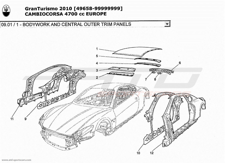 Maserati GranTurismo 4,7L Boite F1 2010 Structural frames