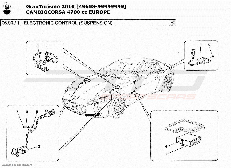 Maserati GranTurismo 4,7L Boite F1 2010 ELECTRONIC CONTROL