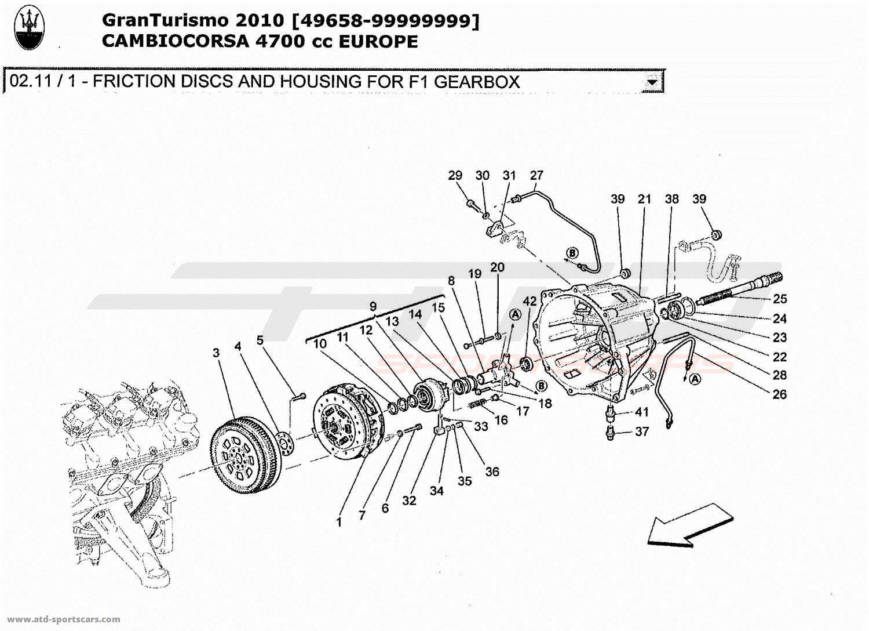 Maserati GranTurismo 4,7L Boite F1 2010 FRICTION DISCS AND