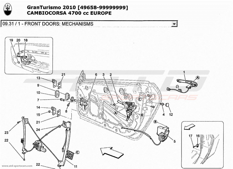 Maserati GranTurismo 4,7L Boite F1 2010 Body parts at ATD