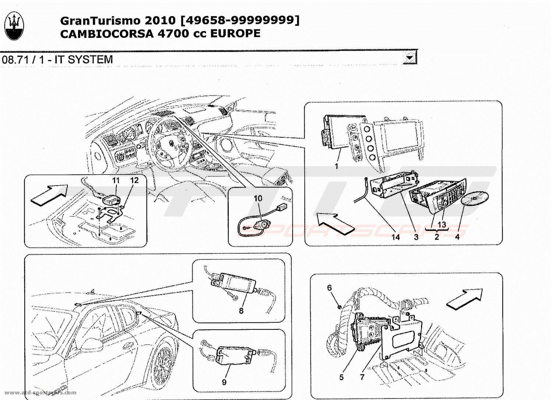 Maserati GranTurismo 4,7L Boite F1 2010 IT SYSTEM parts at