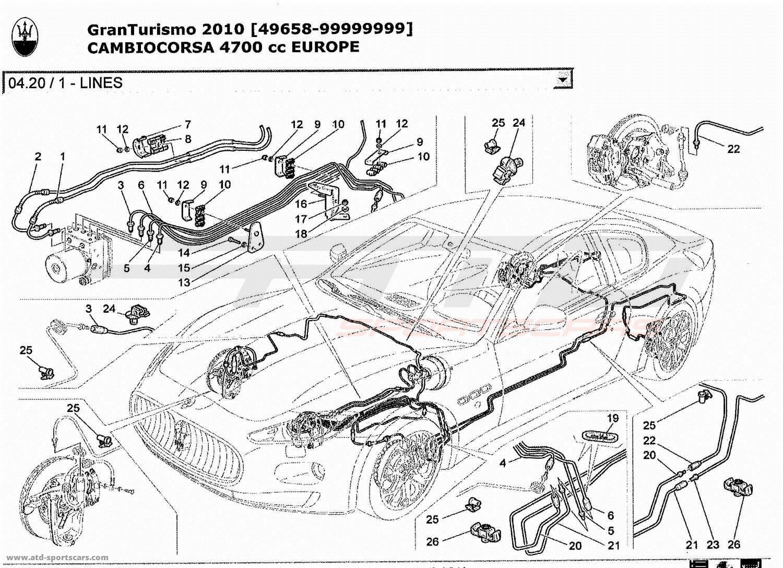 Maserati GranTurismo 4,7L Boite F1 2010 LINES parts at ATD