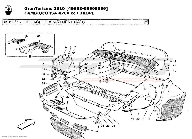 Maserati GranTurismo 4,7L Boite F1 2010 LUGGAGE