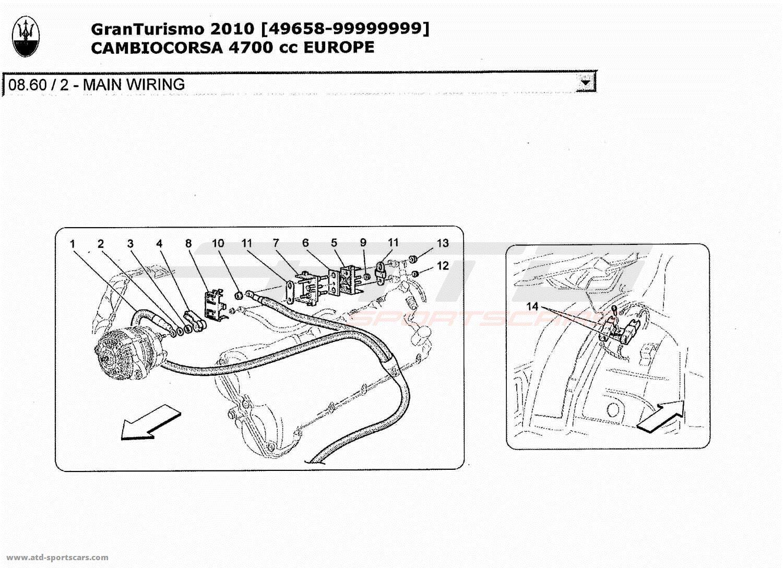 hight resolution of maserati granturismo 4 7l boite f1 2010 main wiring 2 parts at atd 2010 maserati quattroporte interior wiring diagram 2010 maserati granturismo