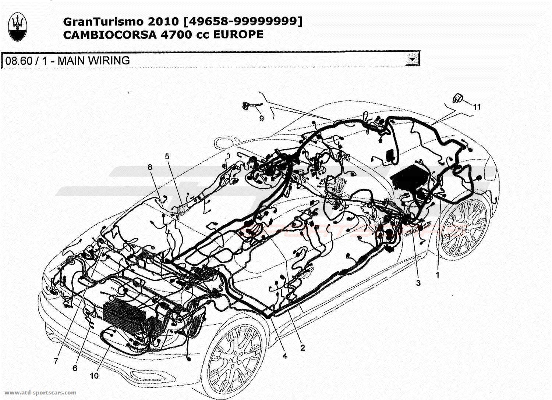 Maserati GranTurismo 4,7L Boite F1 2010 Electrical parts