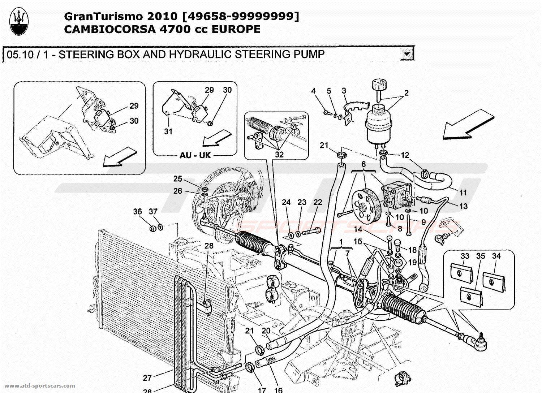 Maserati GranTurismo 4,7L Boite F1 2010 Undercarriage