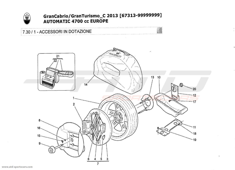 Maserati GranTurismo Grancabrio 4,7l AUTO 2013 ACCESSORIES