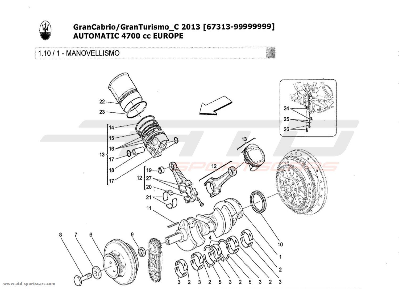 Maserati GranTurismo Grancabrio 4,7l AUTO 2013 Engine