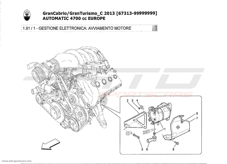 Maserati GranTurismo Grancabrio 4,7l AUTO 2013 ELECTRONIC