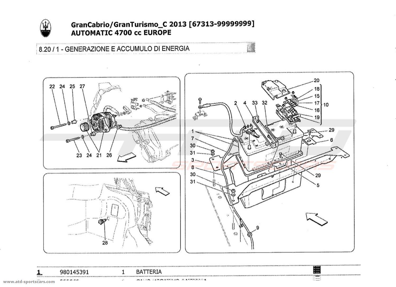 Maserati GranTurismo Grancabrio 4,7l AUTO 2013 Electrical