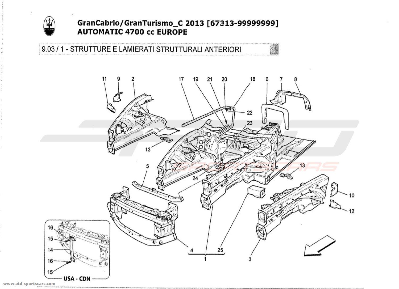 Maserati GranTurismo Grancabrio 4,7l AUTO 2013 FRONT