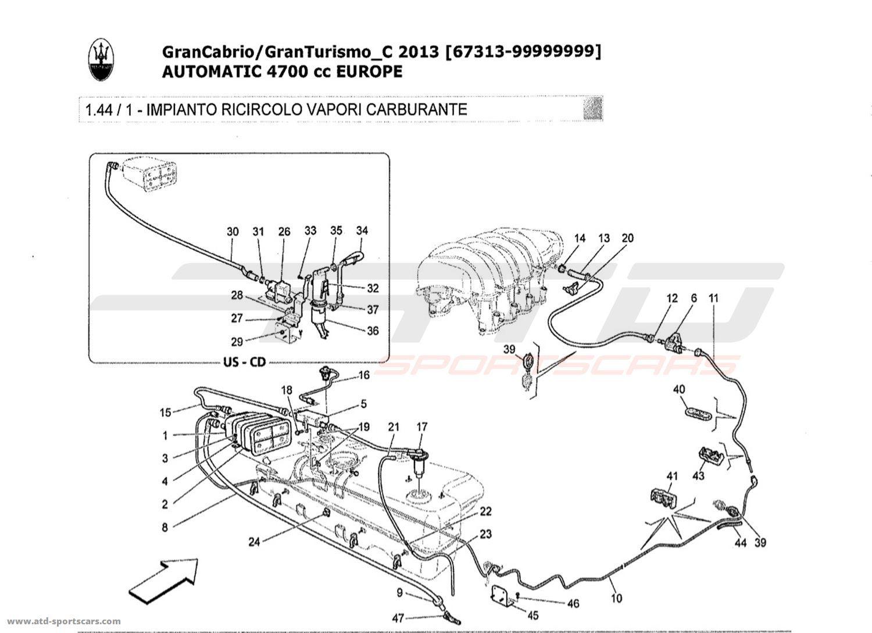 Maserati GranTurismo Grancabrio 4,7l AUTO 2013 Air Intake