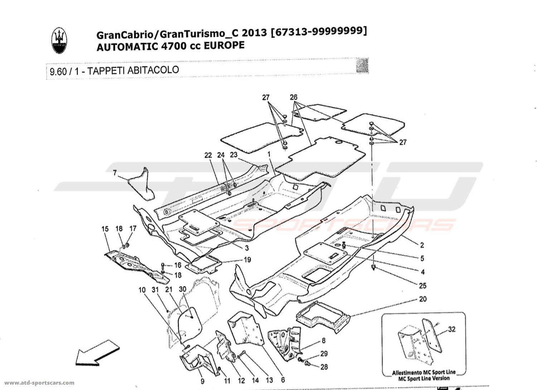 Maserati GranTurismo Grancabrio 4,7l AUTO 2013 Body parts