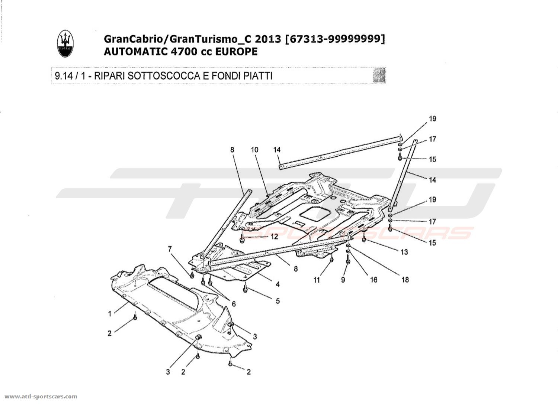Maserati GranTurismo Grancabrio 4,7l AUTO 2013 UNDERBODY