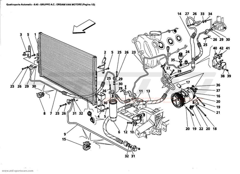 medium resolution of maserati quattroporte engine diagram wiring diagram forward maserati quattroporte 4 2l boite auto 2006 a c