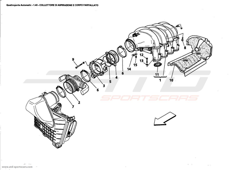 Maserati Quattroporte 4 2l Boite Auto Air Intake