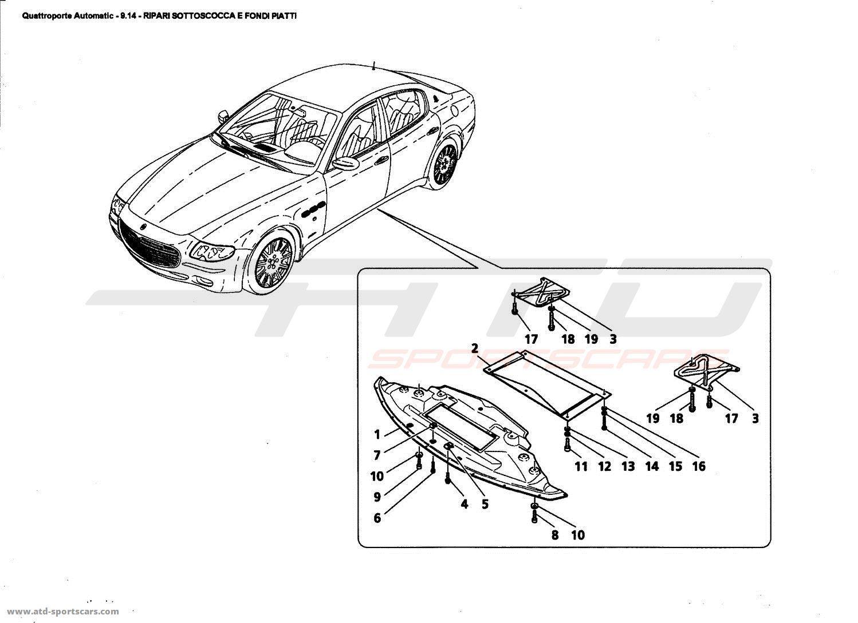 Maserati Quattroporte 4,2L Boite Auto 2006 Body parts at