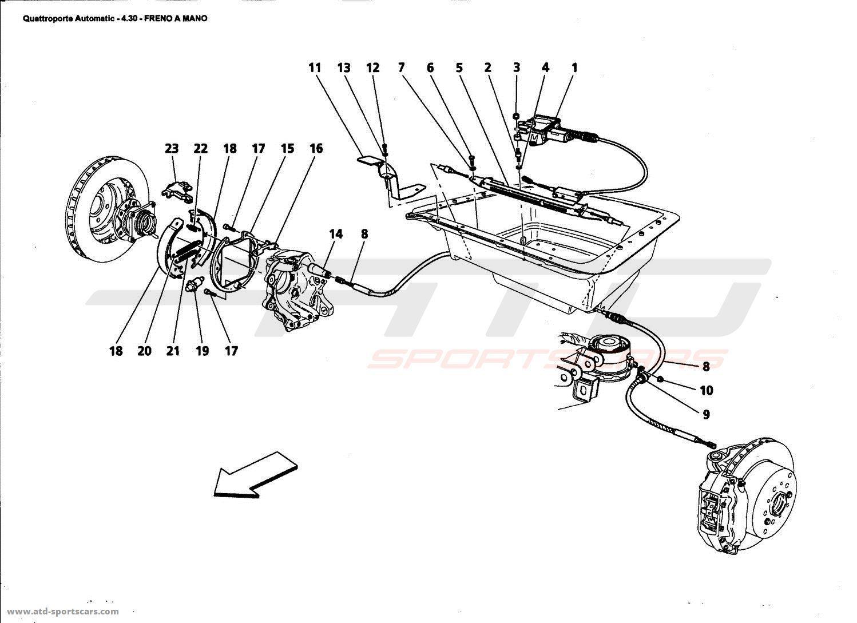 Maserati Quattroporte 4,2L Boite Auto 2006 Brakes parts at