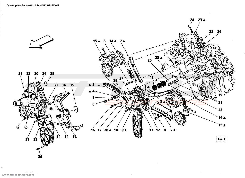Maserati Quattroporte 4,2L Boite Auto 2006 TIMING parts at