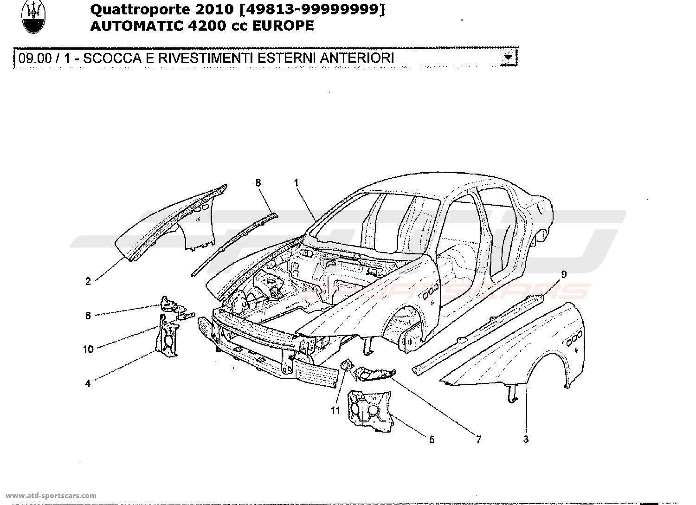 Maserati Quattroporte 4,2L Boite Auto 2010 Structural