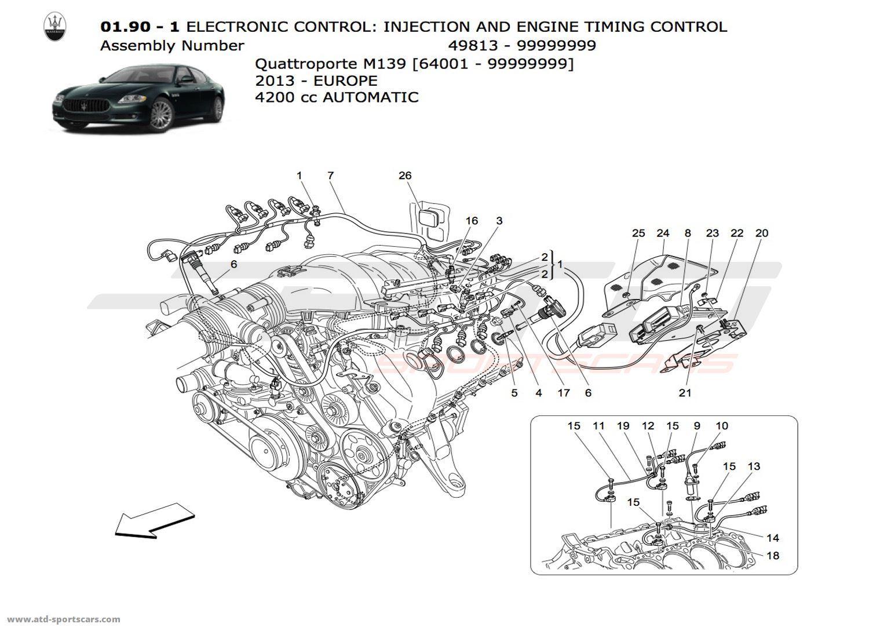 Maserati Quattroporte 4.2L Boite auto 2013 Engine parts at