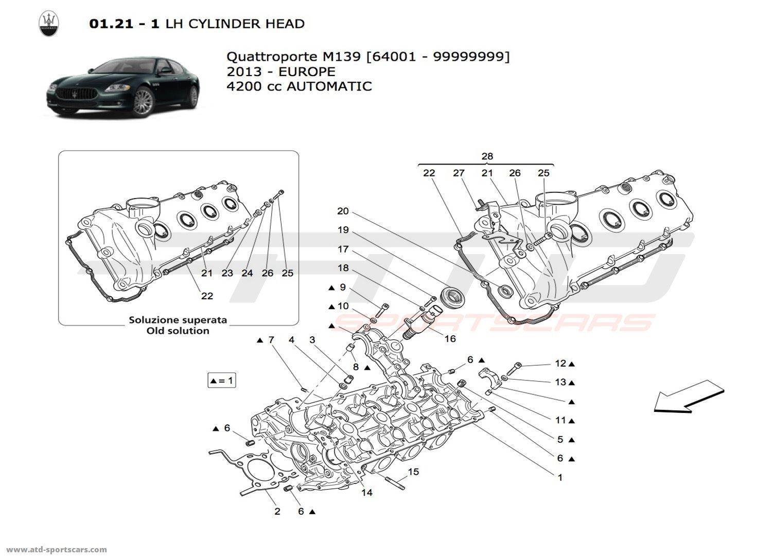 maserati quattroporte 4 2l boite auto engine parts at atd sportscars