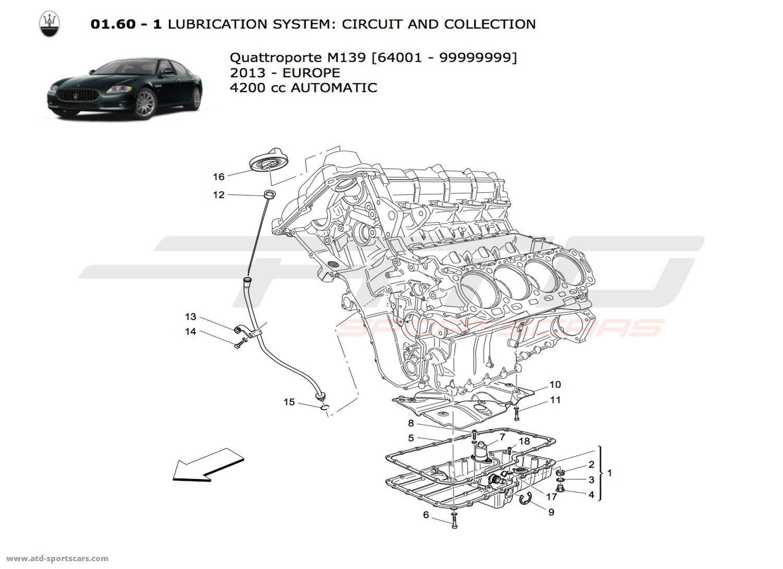 Maserati Quattroporte 4.2L Boite Auto 2013 LUBRICATION