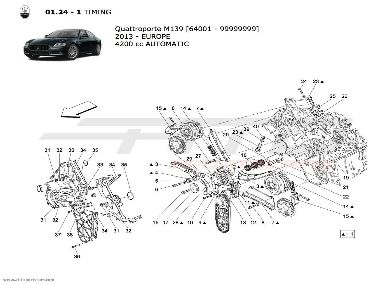Maserati Quattroporte 4.2L Boite Auto 2013 TIMING parts at