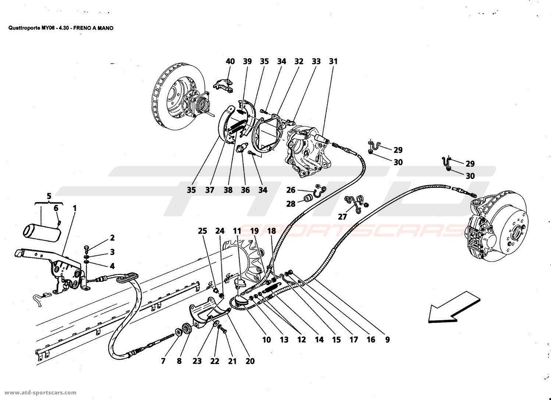 Maserati Quattroporte 4,2L Boite F1 2006 Brakes parts at