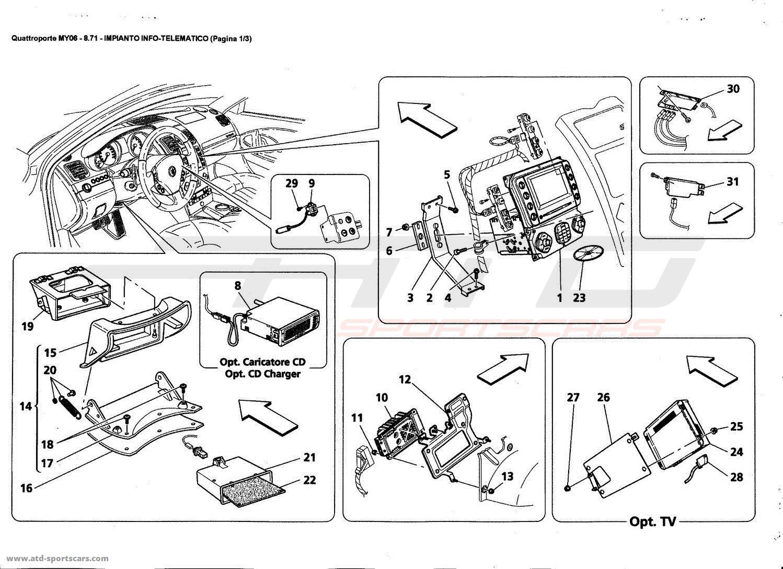 Maserati Quattroporte 4,2L Boite F1 2006 Electrical parts