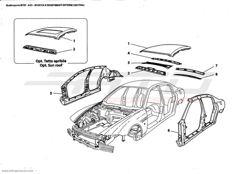 Maserati Quattroporte 4 2l Boite F1 Central Outer