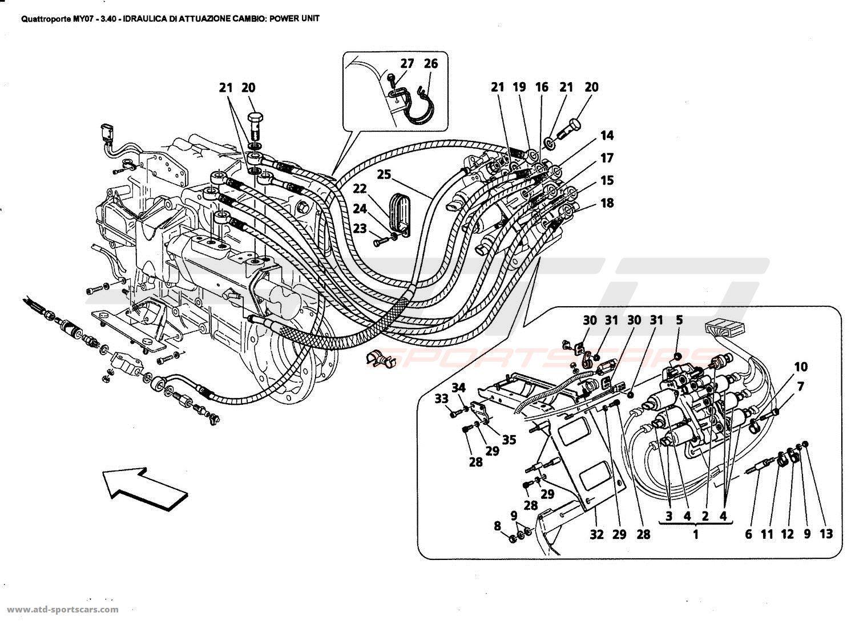 Maserati Quattroporte 4 2l Boite F1 Gearbox Control Hydraulics Power Unit Parts At Atd