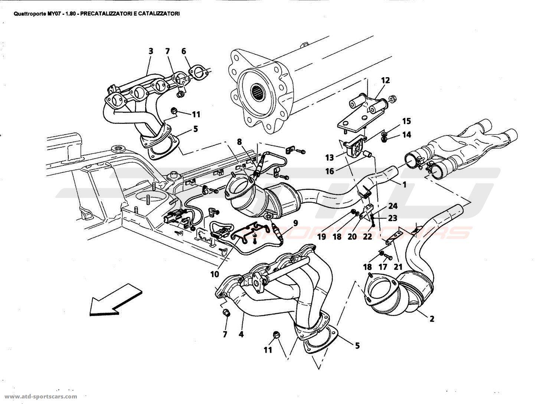 Maserati Quattroporte 4,2L Boite F1 2007 Exhaust System