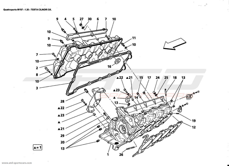 Maserati Quattroporte 4,2L Boite F1 2007 Engine parts at