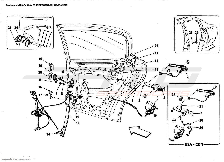 Maserati Quattroporte 4,2L Boite F1 2007 REAR DOORS
