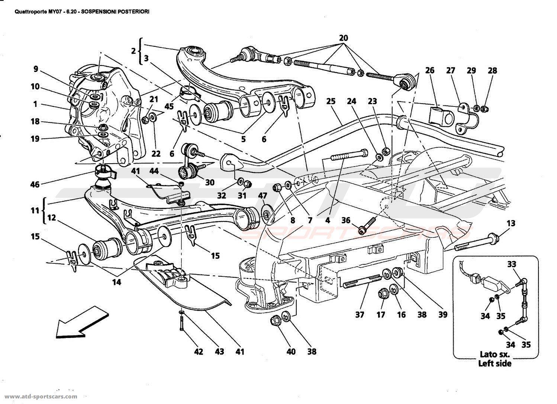Maserati Quattroporte 4 2l Boite F1 Undercarriage Parts At Atd Sportscars
