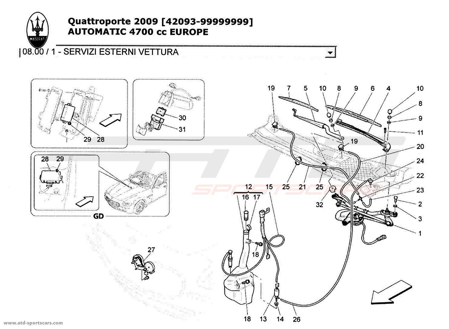 Maserati Quattroporte 4,7L Boite Auto 2009 EXTERNAL