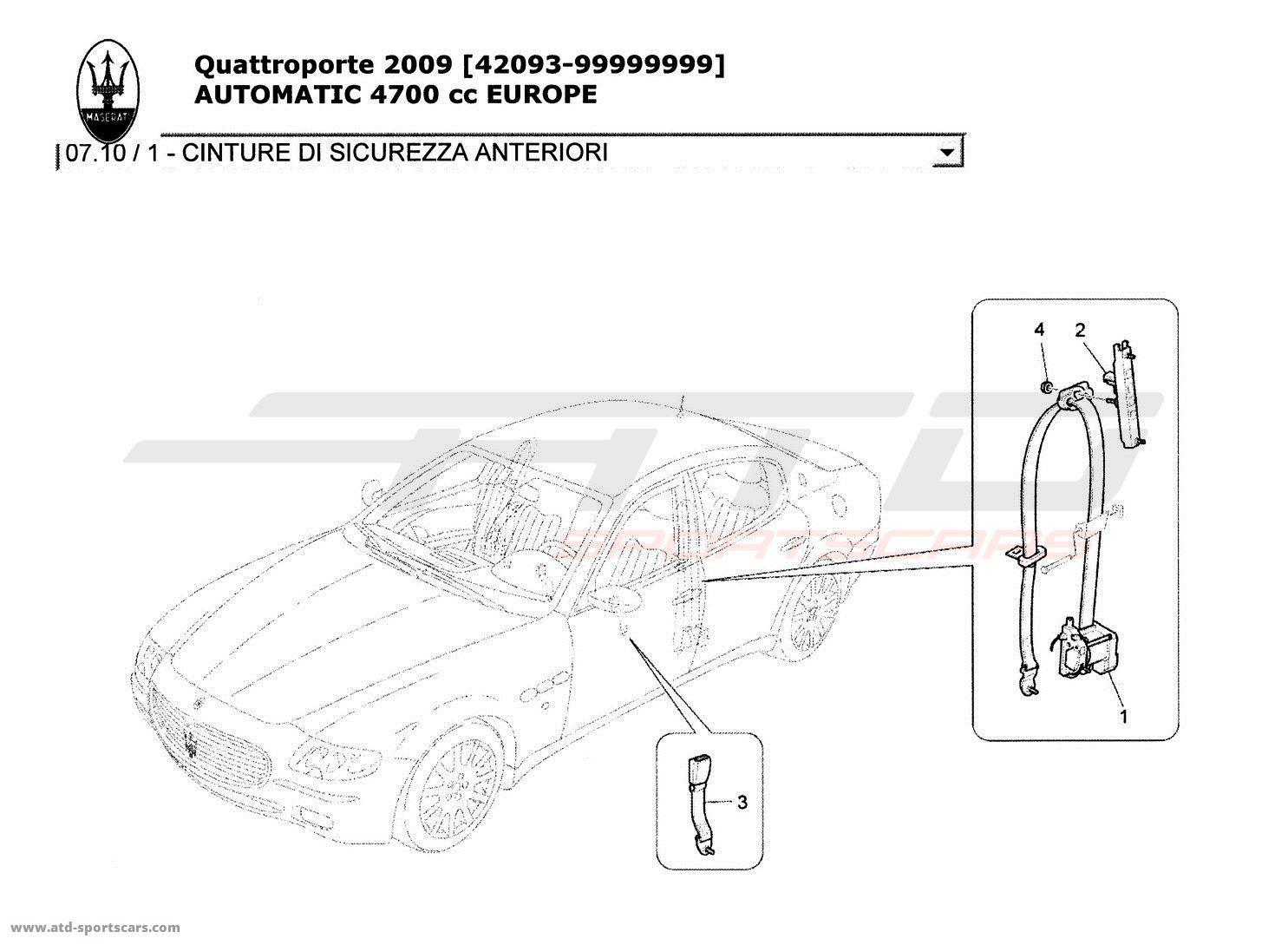 Maserati Quattroporte 4,7L Boite Auto 2009 Body parts at