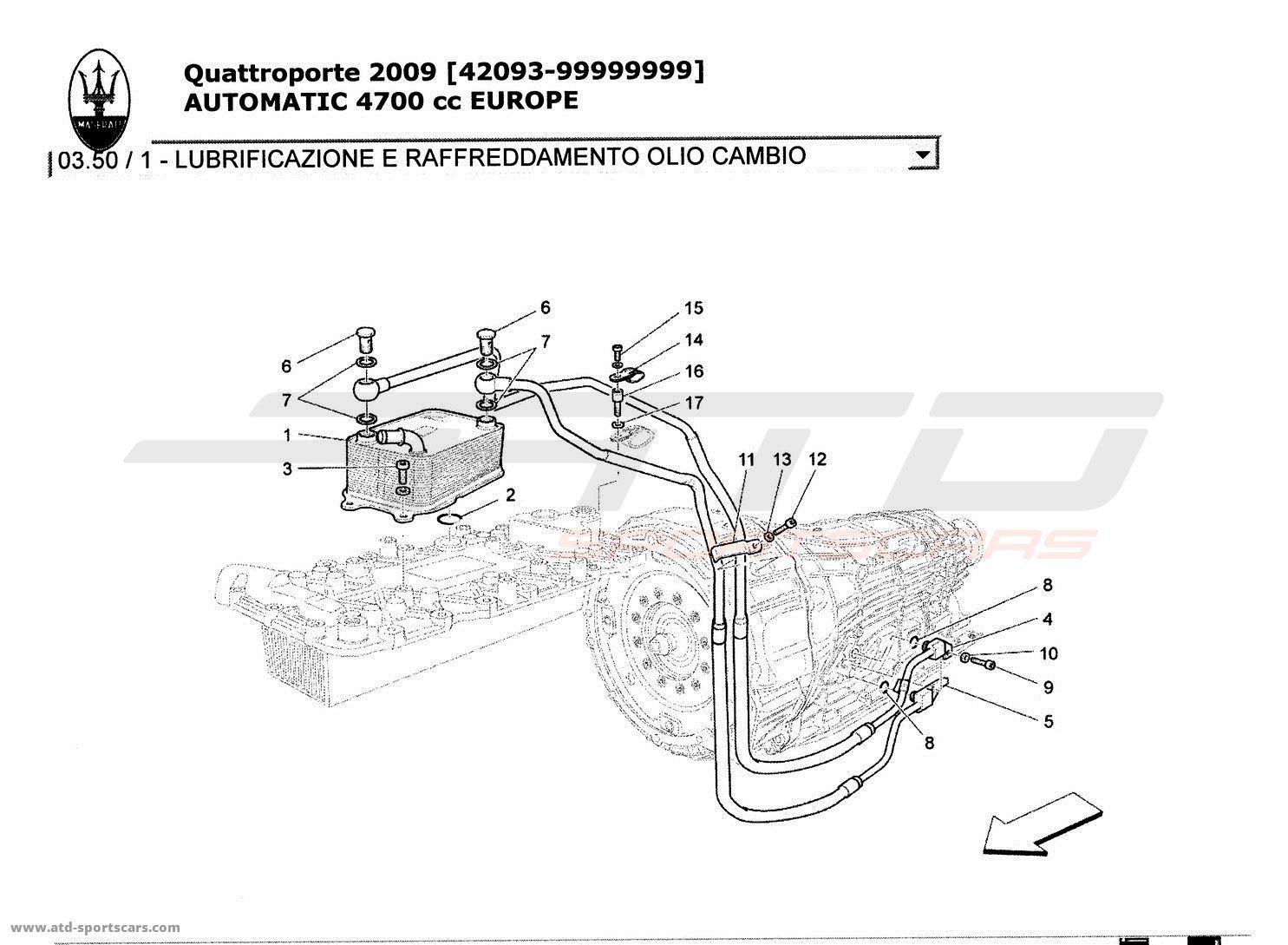 Maserati Quattroporte 4,7L Boite Auto 2009 Gearbox