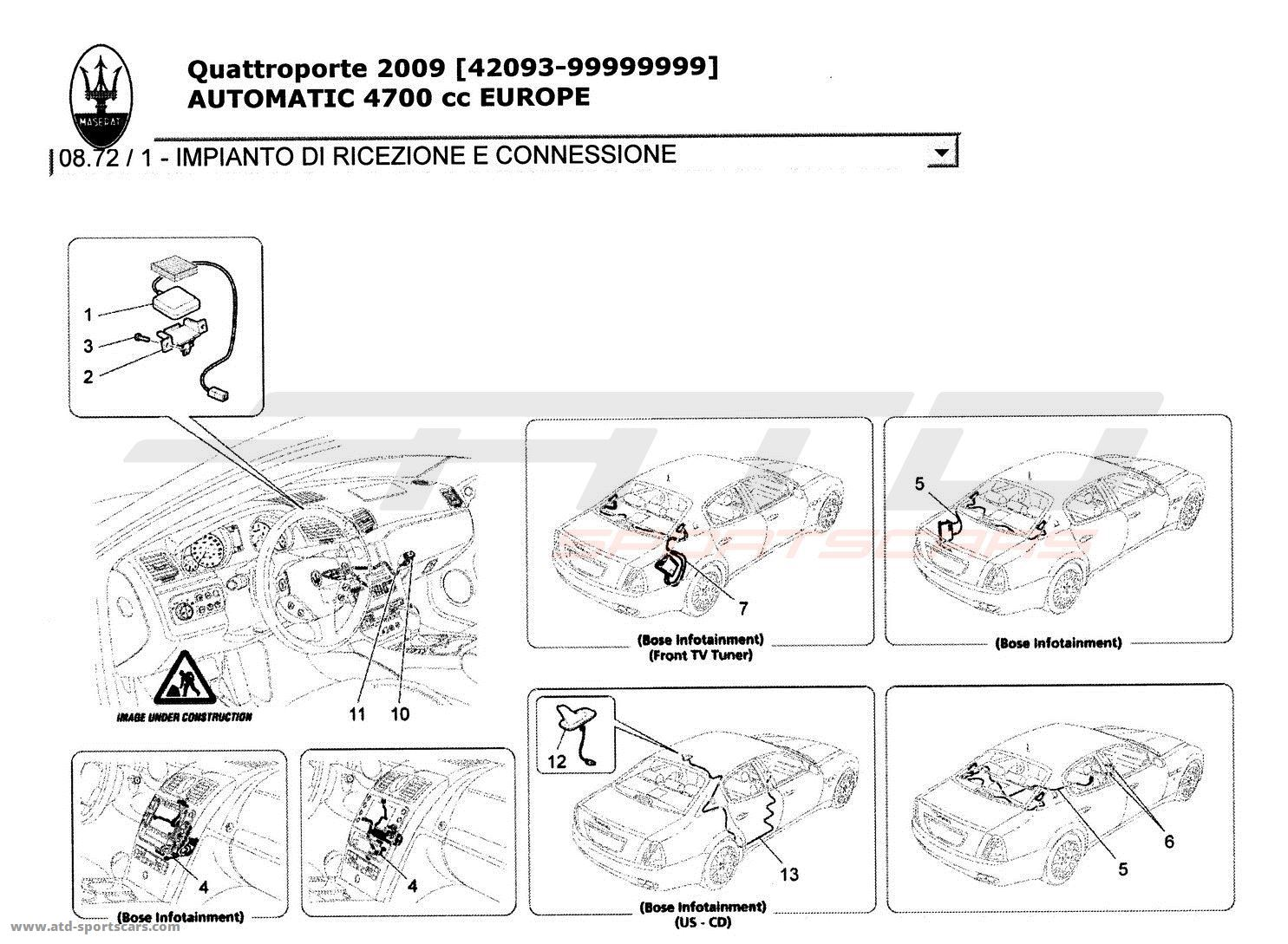 Maserati Quattroporte 4,7L Boite Auto 2009 Electrical
