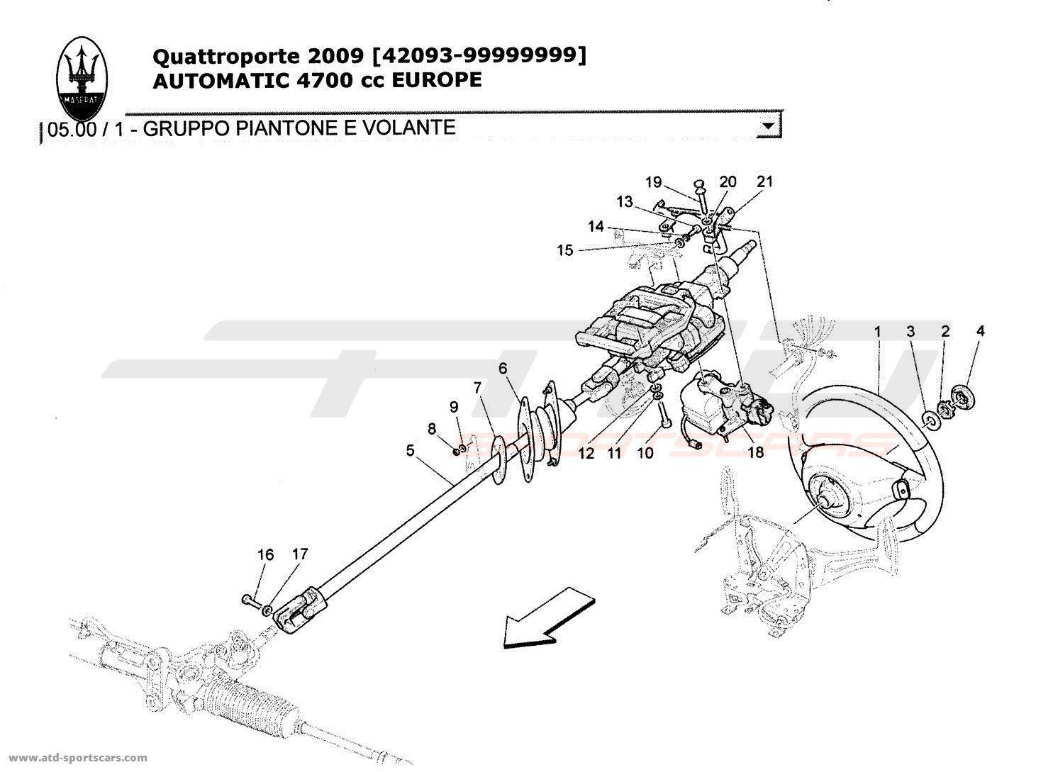 Maserati Quattroporte 4,7L Boite Auto 2009 Undercarriage