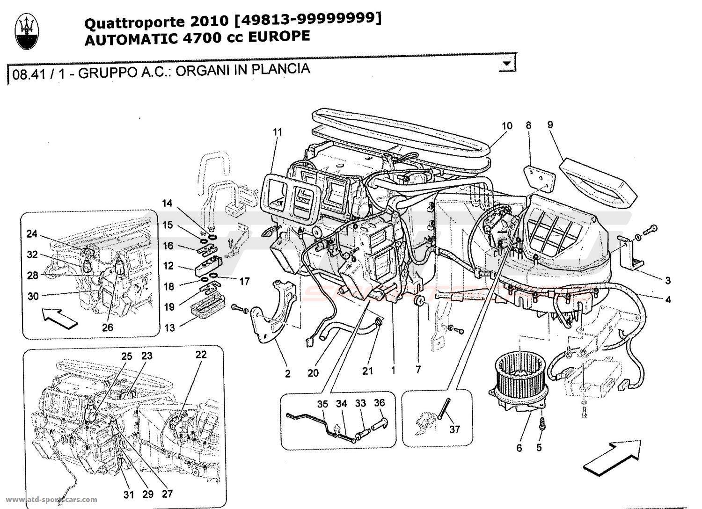 Maserati Quattroporte 4,7L Boite Auto 2010 A/C UNIT
