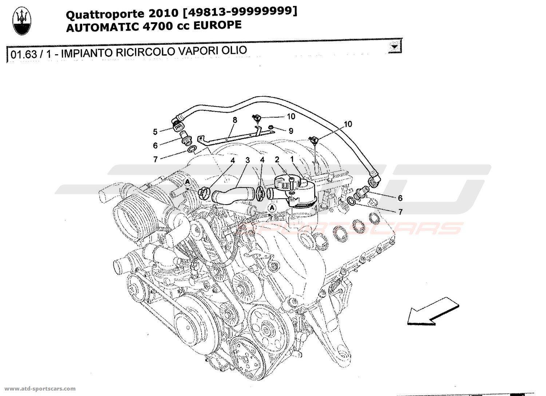 Maserati Quattroporte 4,7L Boite Auto 2010 Air Intake