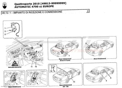 small resolution of maserati quattroporte 4 7l boite auto 2010 reception and connection system