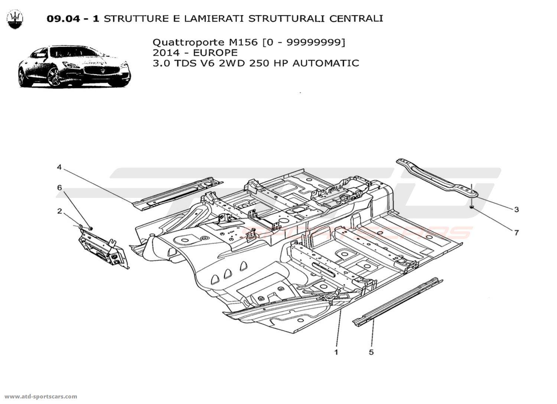 Maserati Quattroporte V6 3.0L Diesel Auto 2014 CENTRAL