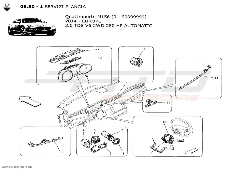 Maserati Quattroporte V6 3.0L Diesel Auto 2014 DASHBOARD