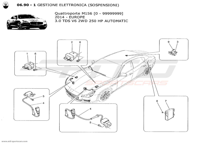 Maserati Quattroporte V6 3.0L Diesel Auto 2014 ELECTRONIC